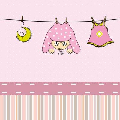 Obraz Tarjeta nacimiento bebe niña
