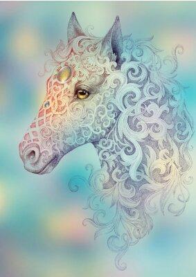 Obraz Tattoo, krásná hlava koně s hřívou