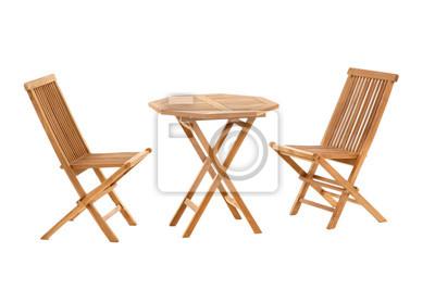Obraz teak stůl a židle, zahradní nábytek