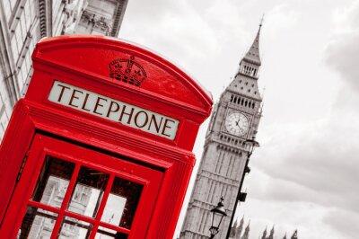 Obraz Telefonní budka. Londýn, Velká Británie