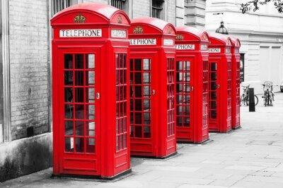 Obraz Telefonní budky v Londýně v metodě Color klíče