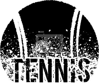 Obraz Tenis dark grunge