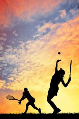 Obraz Tenis při západu slunce