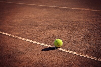 Obraz tenisový míček na čáru