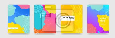 Obraz Textura pozadí geometrický vzor pro návrh plakátu. Minimální barevné přechodu šablona nápisu. Moderní vektorové vlny tvar pro brichure