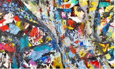 Obraz Textury, pozadí, vzor. Malba malovaná umělcem. Umělecké abstraktní pozadí textury, akrylové barvy na plátně. Siluety lidí, orientální témata,