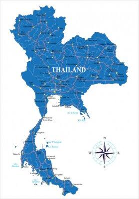 Thajsko mapa