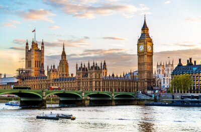 Obraz The Palace of Westminster in London in the evening - England