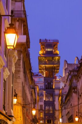 The Santa Justa Lift - Lisbon Portugal