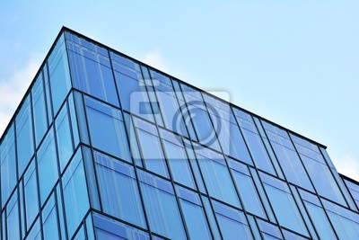Obraz The windows of a modern building for offices. Business buildings architecture.