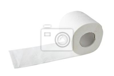 toaletní papír izolovaných na bílém