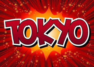 Obraz Tokio - ve stylu komiksu slovo.