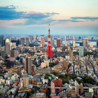 Obraz Tokio Výhled na město vidět na obzoru