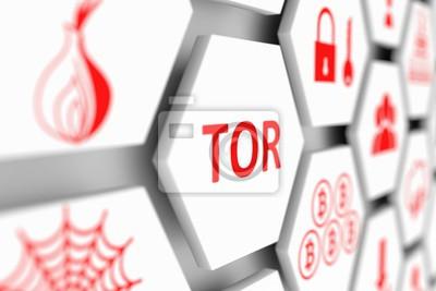 Obraz TOR koncepce buňky rozostřené pozadí 3d ilustrace