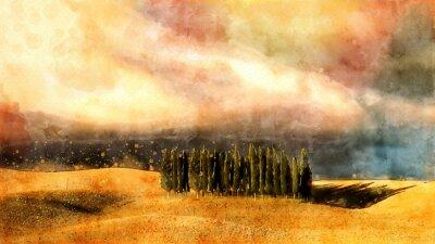 Obraz Toskánský akvarel.