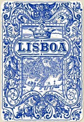 Obraz Tradiční Dlaždice Azulejos Lisboa, Portugalsko