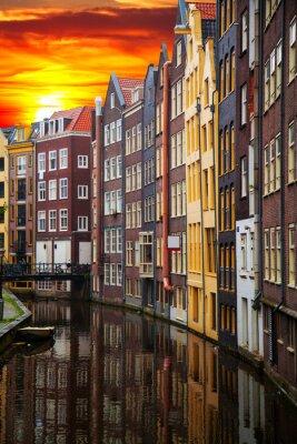 Obraz Tradiční staré budovy v Amsterdamu