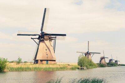 Obraz Tradiční větrné mlýny v Nizozemí