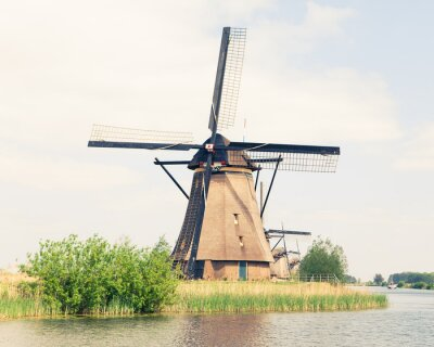 Obraz Tradiční větrný mlýn v Nizozemsku