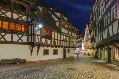 Traditional colorful houses in Strasbourg - Alsace France