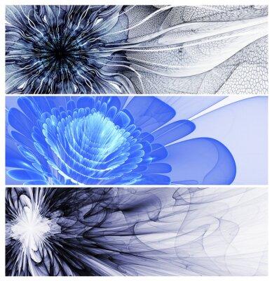 Obraz Tři abstraktní květinové baners