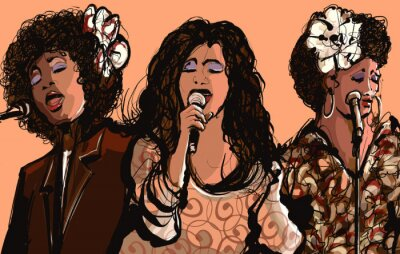 Obraz Tři ženy Jazzoví zpěváci