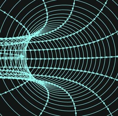 Obraz Trojrozměrný abstraktní tunel nebo trubka