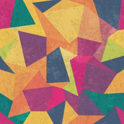 Obraz Trojúhelník vzor. Pestré, grunge a bezproblémové. grunge účinky