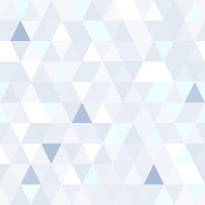 Obraz Trojúhelníkový tvar třpytivé modré bezproblémové vzor. Geometrické lesklý pozadí.