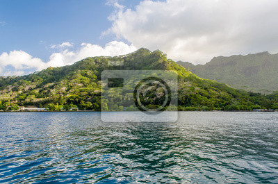 Tropické Bay, Moorea Island, Francouzská Polynésie