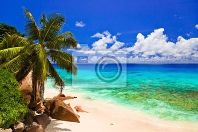 Tropické pláže na ostrově La Digue, Seychely