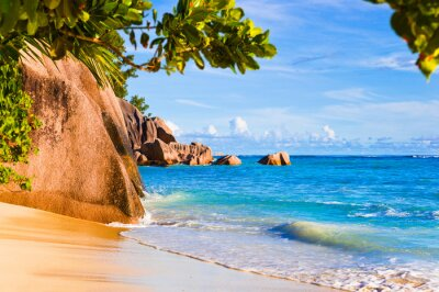 Tropické pláže Source D'Argent na Seychely