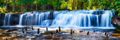 Obraz Tropický vodopád v džungli s motion blur