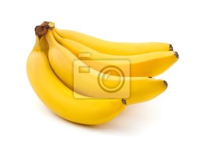Trs banánů izolovaných na bílém pozadí