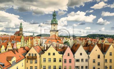 Tržní náměstí ve starém městě Jelenia Gora, Polsko
