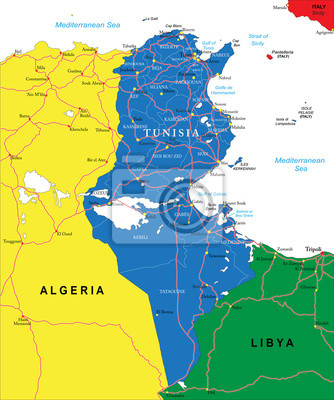 Tunisko mapa