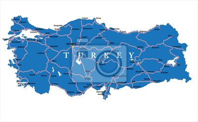 Turecko mapa