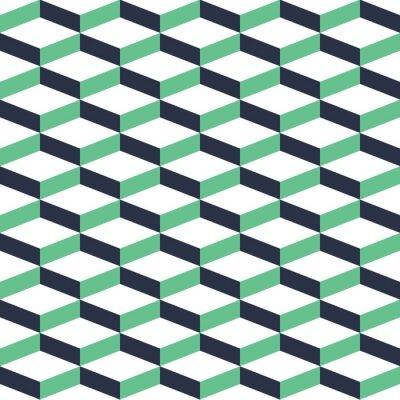 Obraz Turquoise Geometrická Illusion bezešvé vzor