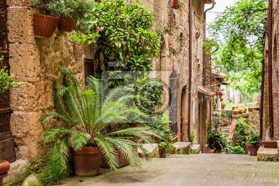 Tuscan Street ve městě plné květnaté verandy