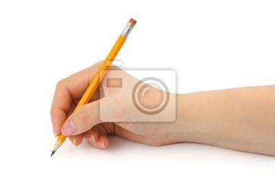Tužka v rukou ženy