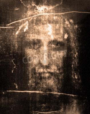 Obraz Tvář Ježíše z Turínského plátna