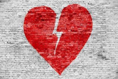 Obraz Tvar zlomeným srdcem