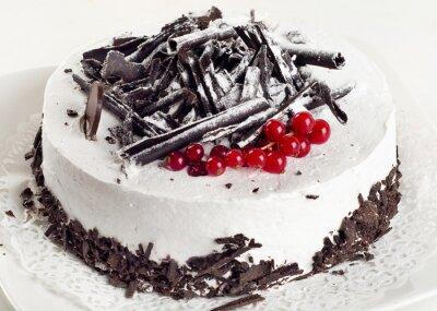 Obraz Tvarohový koláč s červený rybíz
