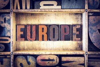 Obraz Typ Europe Concept Letterpress
