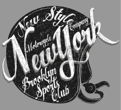 Obraz Typ motocyklové přilby Typický sportovní klub New York