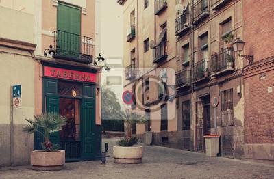 Ulice v Madridu, Španělsko.