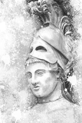 Obraz Umělecký portrét Pericles s texturou pozadí, Classica