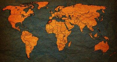 Obraz území Maroka na mapě světa
