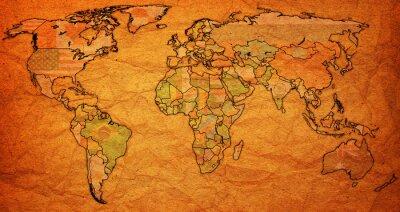 Obraz Území surinam na mapě světa