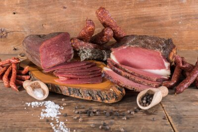 Obraz Uzené maso a klobásy